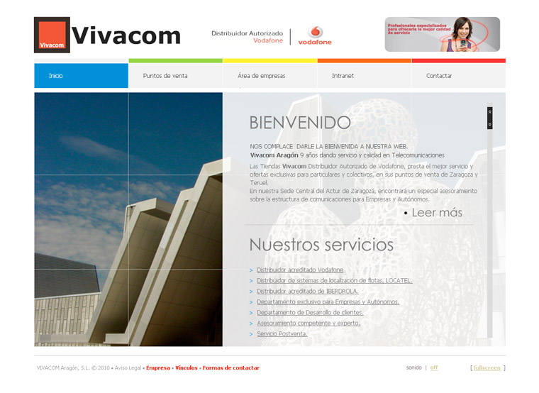 Web en flash VIVACOM